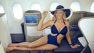 Illustration for article titled British Airways Turns Heads With New Poster Girl