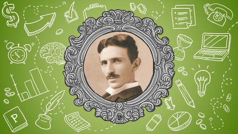 Illustration for article titled Nikola Tesla's Best Productivity Tricks
