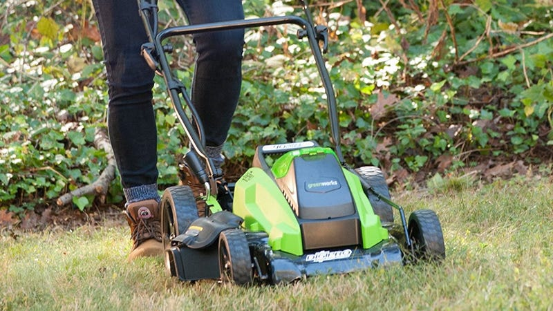"""GreenWorks 19"""" 40V Electric Lawnmower (No Battery) 