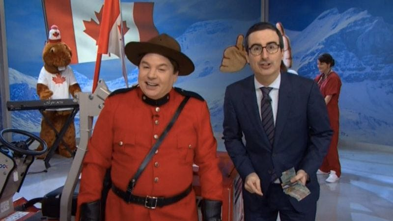 Illustration for article titled UPDATED: John Oliver and Mike Myers have some advice for Canadians on election day
