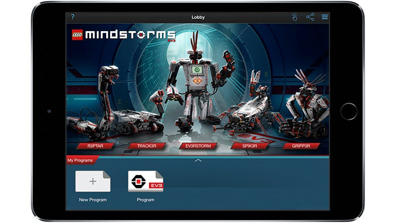 Illustration for article titled The Lego Mindstorms EV3 App Lets You Program Your Robotic Creations From a Tablet