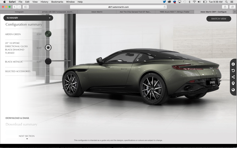 aston martin db11 configurator. Black Bedroom Furniture Sets. Home Design Ideas