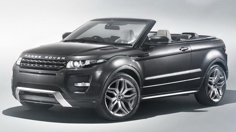 Illustration for article titled The Range Rover Evoque Convertible Makes Perverse Sense