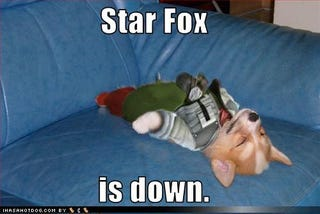 Illustration for article titled Star Fox Dog Needs To Do A Barrel Roll