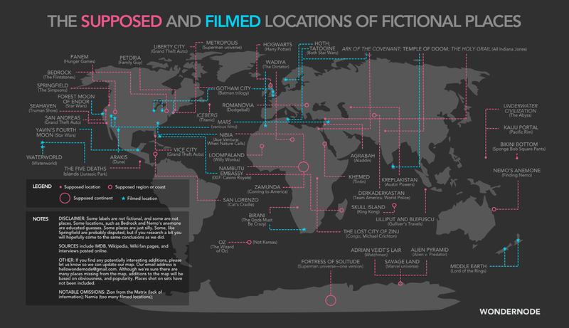 Illustration for article titled El gran mapa de los lugares imaginarios de la ciencia-ficción