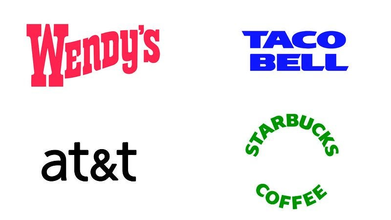 Illustration for article titled How Many Of These Brands Can You Recognize When We Take Away The Logo And Just Leave The Name?