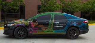 Illustration for article titled Ford Just Unveiled A Fusion That Weighs As Little As A Fiesta