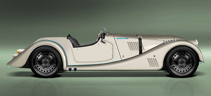 Illustration for article titled The Morgan Plus 8 Speedster Is Your Old-School Steelie Dream