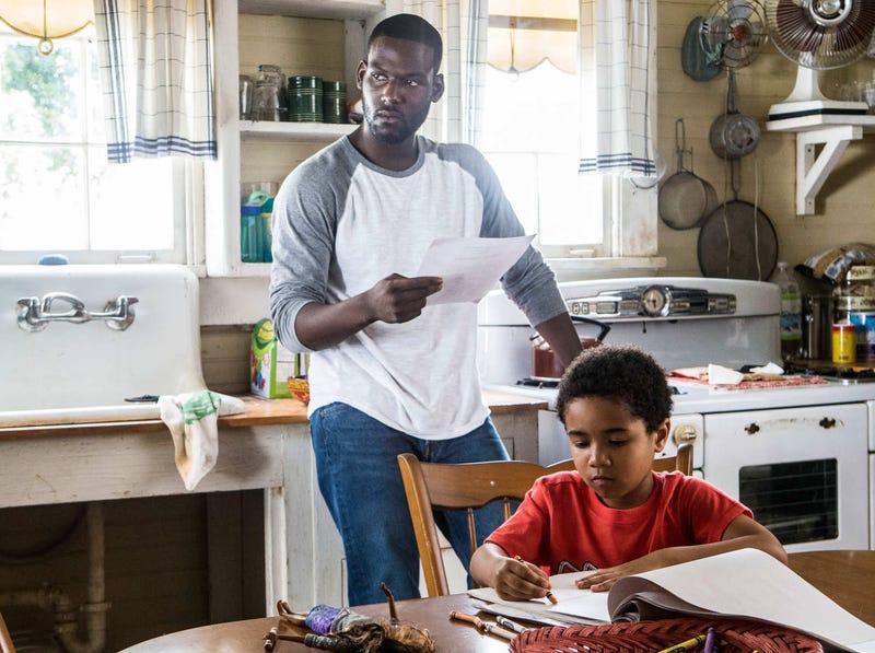 Kofi Siriboe as Ralph Angel and Ethan Hutchinson as his son, Blue, in Queen SugarOWN