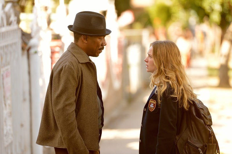 Eddie Murphy (Mr. Church) and Britt Robertson (Charlotte) in the film Mr. ChurchMr. Church via YouTube screenshot