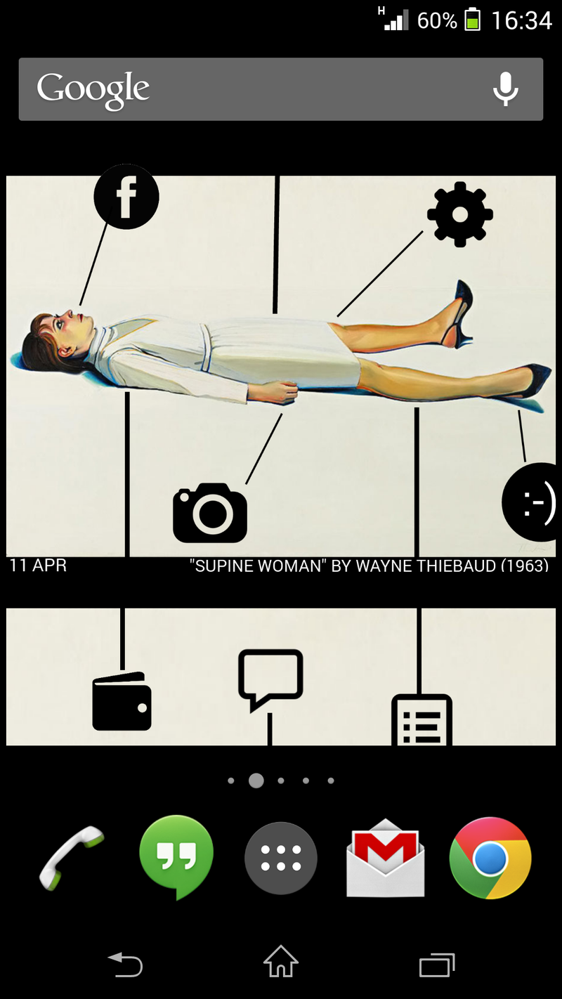 Illustration for article titled The Supine Home Screen