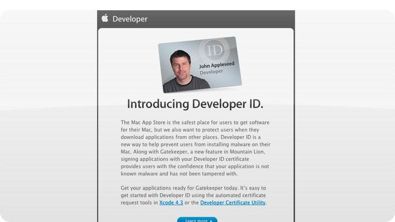 Illustration for article titled Apple Developer IDs Bring Us One Brick Closer to an OS X Walled Garden