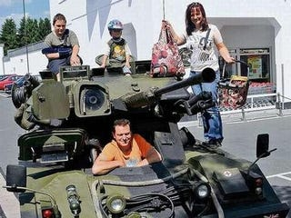 Illustration for article titled German Family Buys Armored Reconnaissance Vehicle For Grocery Runs