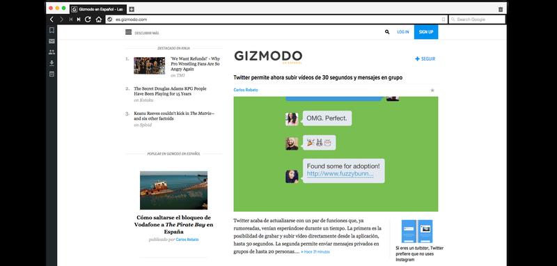 Vivaldi es un nuevo navegador para moverse por Internet like a boss