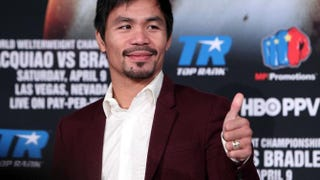 Boxer Manny PacquiaoCHRIS FARINA/AFP/Getty Images