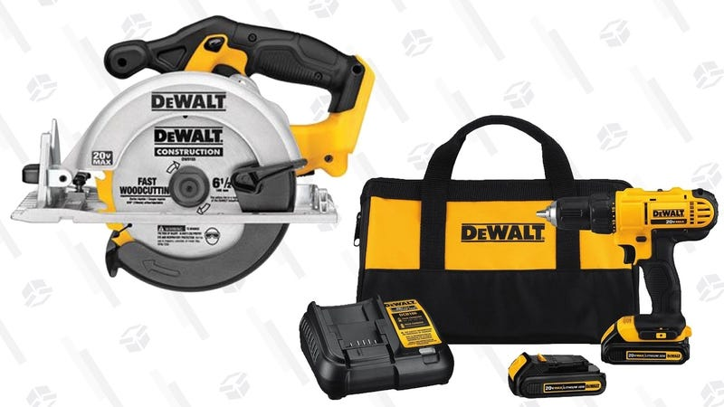 DEWALT 20V Drill Driver + 20V Circular Saw | $138 | Amazon