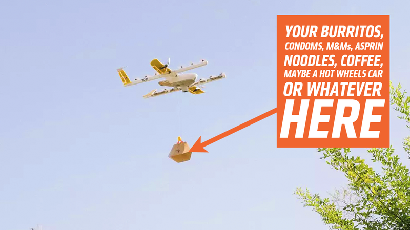 Illustration for article titled Google Is Set to Beat Amazon to Drone Deliveries