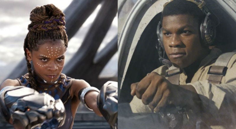 Letitia Wright (seen in Black Panther) and John Boyega (seen in The Last Jedi) are about to fall in love on screen.