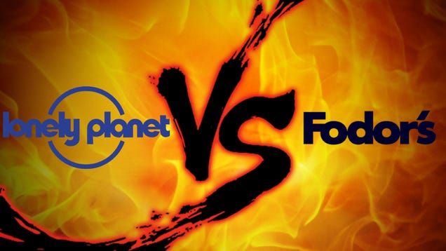 lonely planet vs. fodor's travel