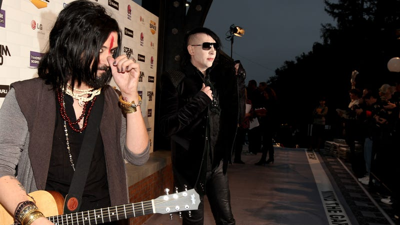 Jeordie White and Marilyn Manson (Photo: Christopher Polk/Getty Images)