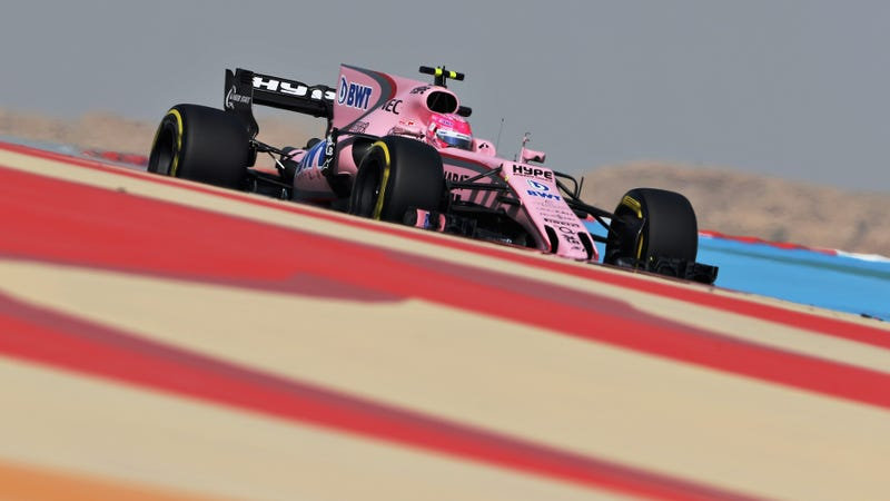 Esteban Ocon during practice at the Formula One Bahrain Grand Prix. Photo credit: Mark Thompson/Getty Images