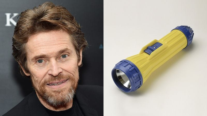 Willem Dafoe and a flashlight.