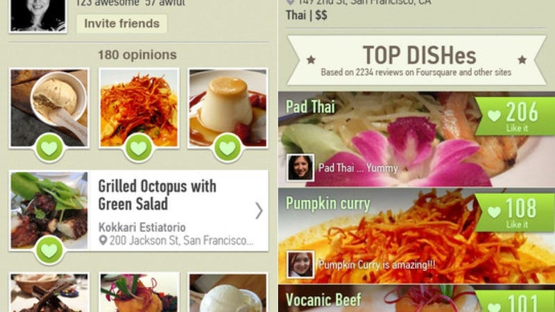 Illustration for article titled Dish.fm Consults Foursquare and Yelp to Help You Decide What to Order