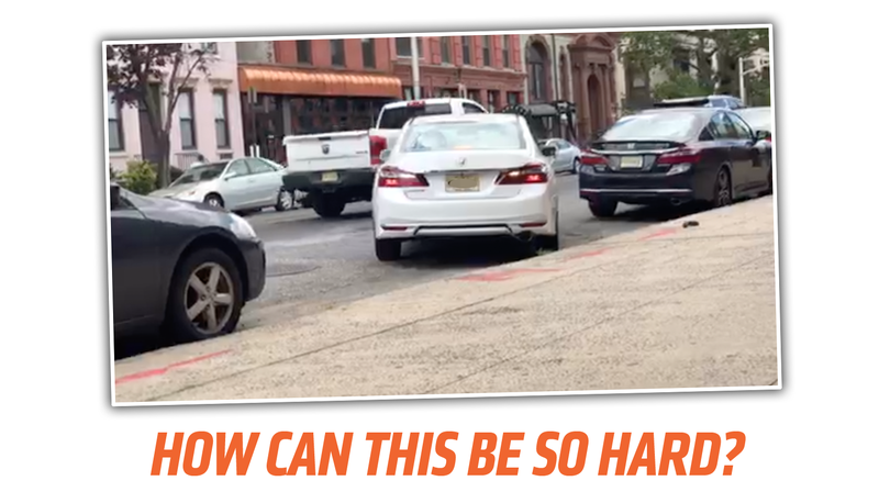 Illustration for article titled Oh God This Parallel Parking Fail Is So Painful To Watch
