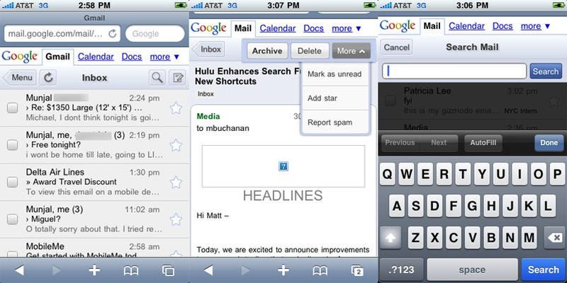Illustration for article titled Redesigned Mobile Gmail for iPhone and Android Is Faster, Appier, Awesomer
