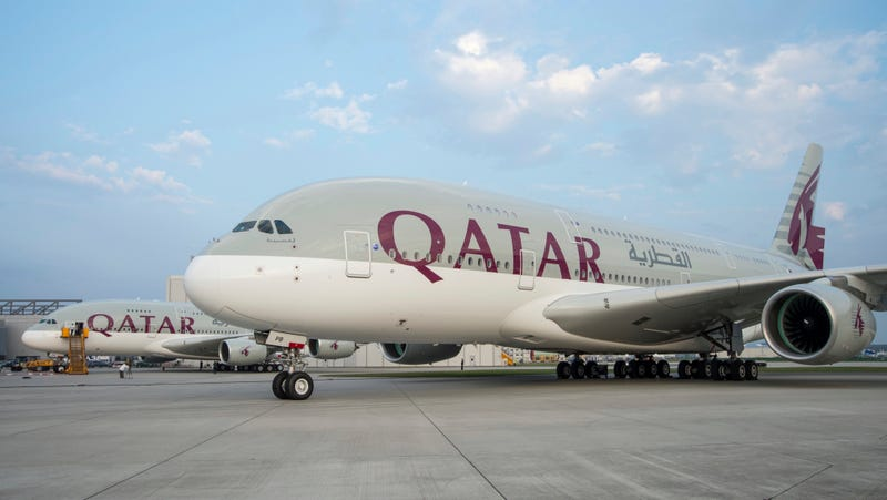 Illustration for article titled Watch The First Qatar A380 Get Built Inside And Out