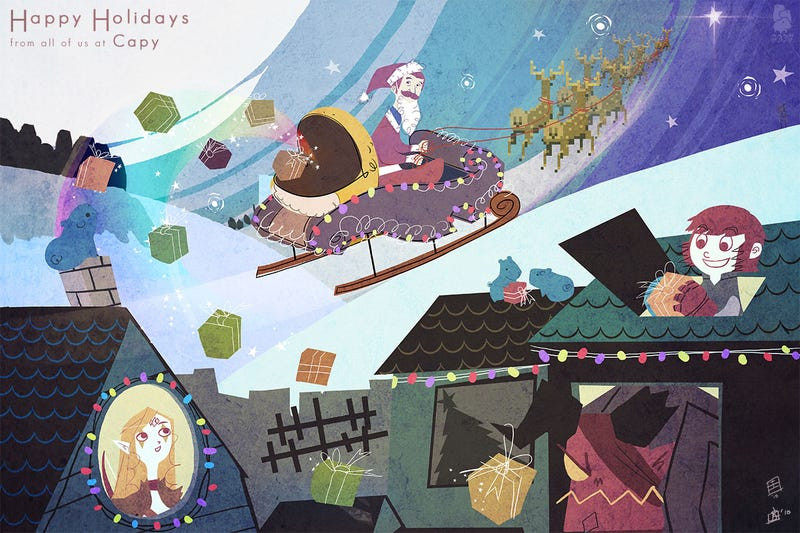 Illustration for article titled A Capy Christmas To All & To All A Good Night