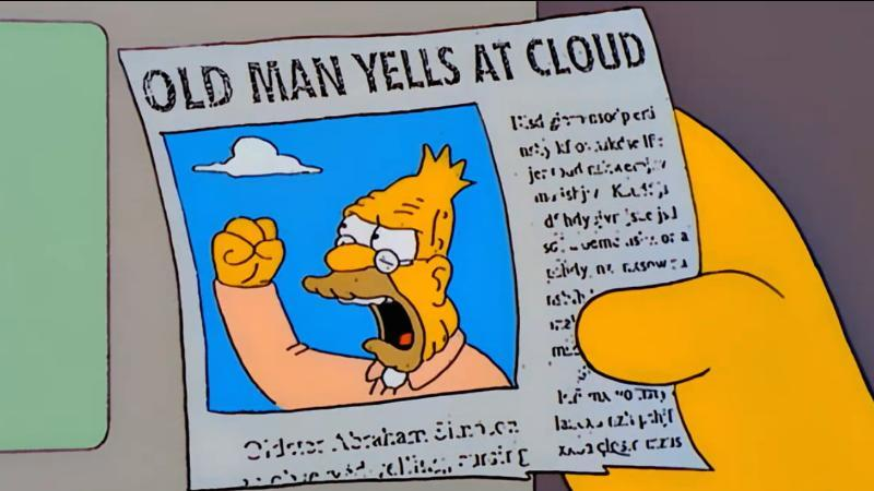 Illustration for article titled Filed to: Old Man Yells At Cloud
