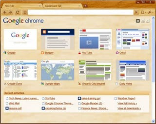 Illustration for article titled Google Polishes Chrome Into New Beta With Custom Tab Page, Themes, and 30% More Speeeeed