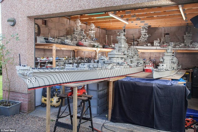 Fisherman Spent 3 Years Building Massive 24-Foot Long Lego USS Missouri