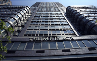 Frontage of one of the Trump Place buildings in New York CityTwitter Screenshot