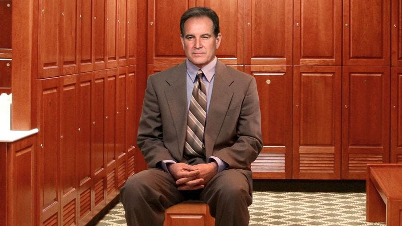 Illustration for article titled Jim Nantz Sitting In Corner Of Augusta Clubhouse Locker Room Watching Golfers Change