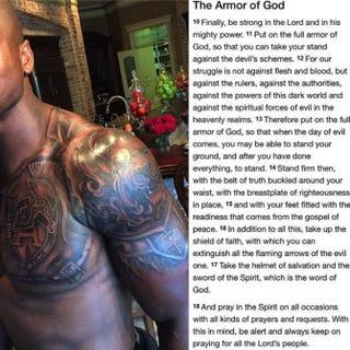 Image of Adrian Peterson's new tattooAdrian Peterson via Twitter