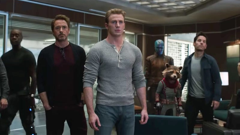 The Avengers crew, together for one last job.