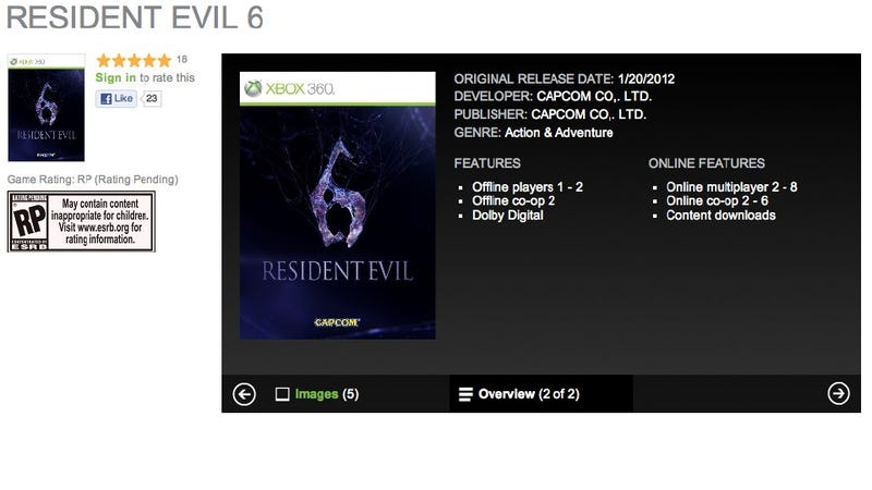 Illustration for article titled Resident Evil 6 to Feature Six-Player Co-Op?