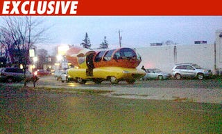 """Illustration for article titled Wienermobile Pulled Over, Deemed """"Un-American"""" To Ticket"""