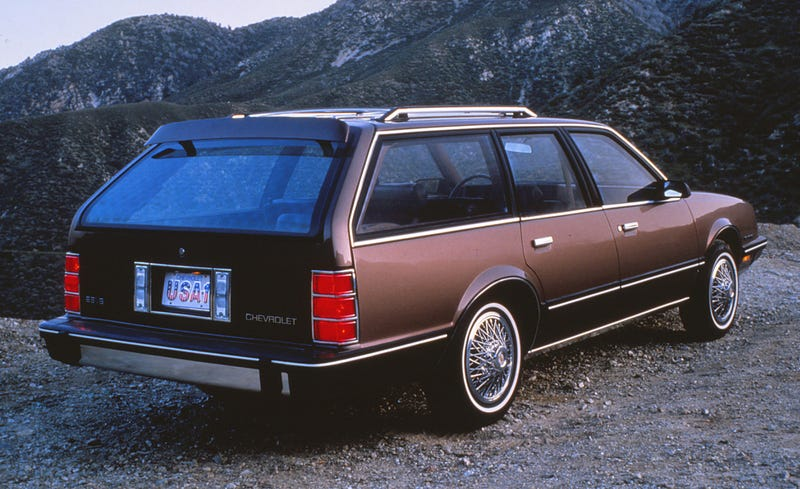 Chevrolet Celebrity wagon... Ours was blue though