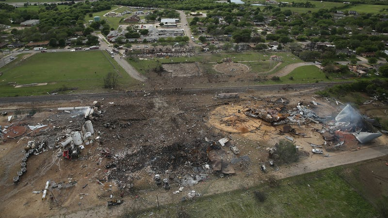 This is what remained of a Texas-based chemical facility after it suffered a major explosion in 2013.