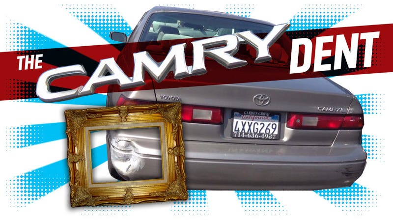 Illustration for article titled The Incredible Mystery Of The 'Camry Dent'