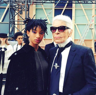 Willow Smith and Karl LagerfeldInstagram