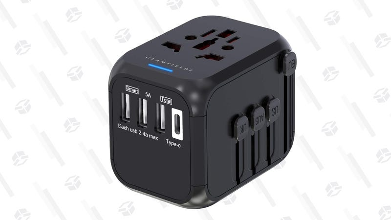 Glamfields Universal Outlet Adapter With 3 USB and 1 USB-C Port | $9 | Amazon | Promo code 6ALMECJ5