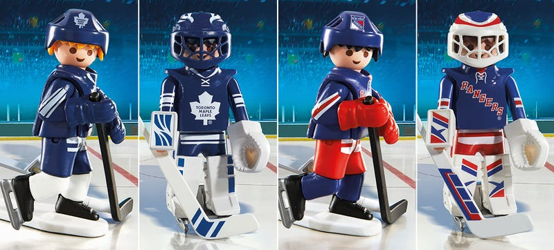 Illustration for article titled Strap On Your Skates, Playmobil Now Has NHL Figures