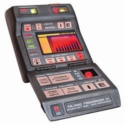 Illustration for article titled Star Trek Mark IX Science Tricorder Replica Can't Tell Chroniton from Beresium