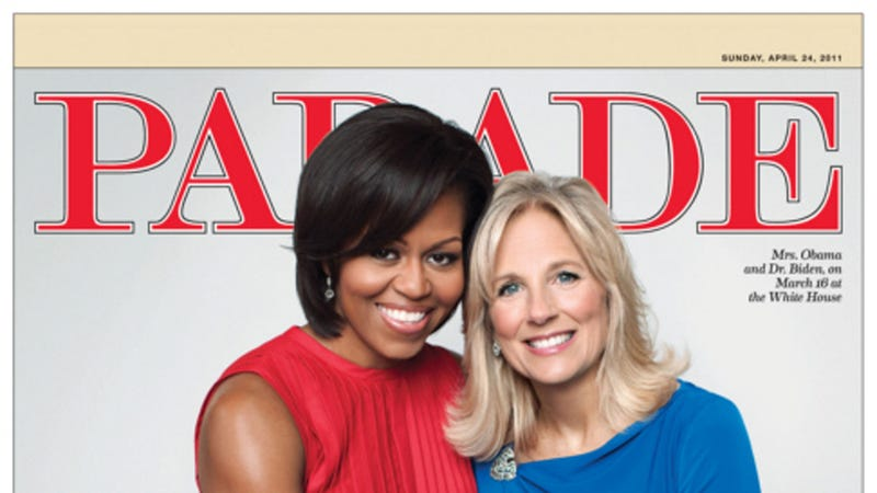Illustration for article titled Michelle Obama and Jill Biden Being Radiant on Cover of Parade