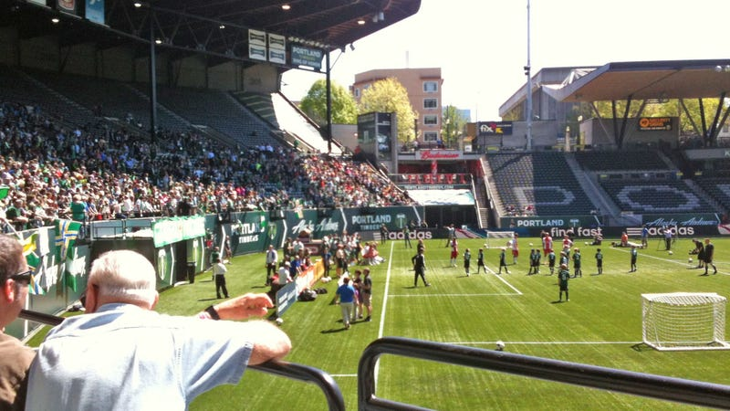 Illustration for article titled Timbers Play Make-A-Wish Game, Kid With Cancer Scores Winning Goal