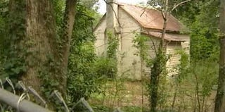 A former slave cabin like this will be converted into an apartment in Anderson, S.C. (NBC News screenshot)